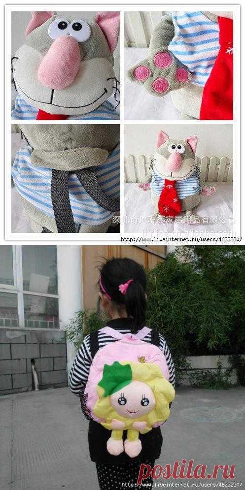 Идеи и выкройки для детских рюкзачков