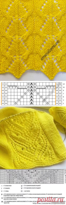 Вяжем спицами - 25 узоров в солнечном цвете   Вязание, рукоделие, хобби   Яндекс Дзен