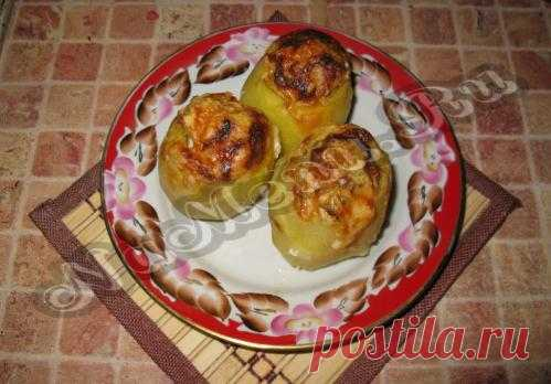 Картофель, фаршированный куриным филе с шампиньонами
