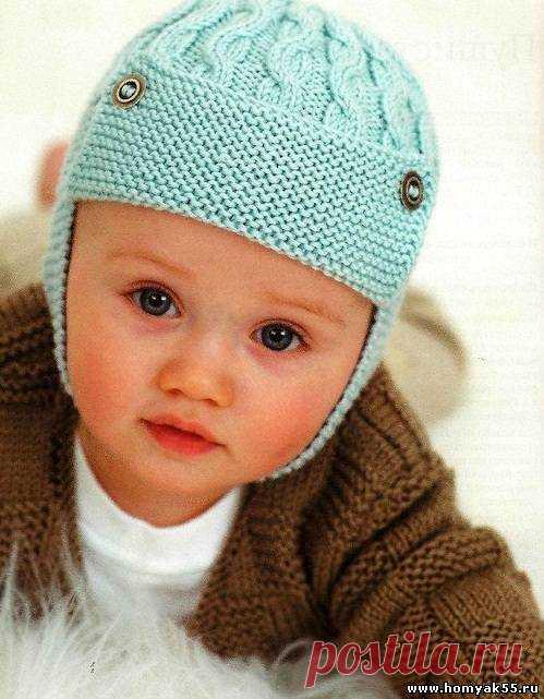 схемы вязания шапок спицами для детей страница 2 вяжем сами