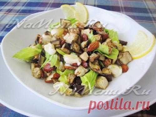 Теплый баклажанный салат