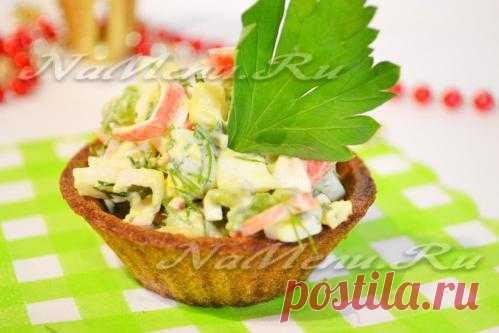 Рецепт салата в тарталетках
