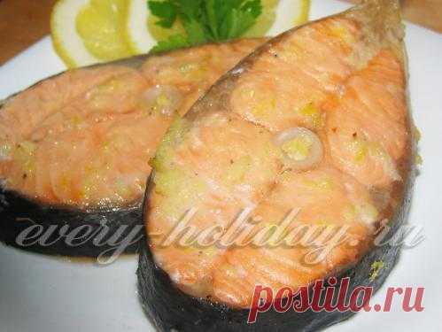 Семга гриль - вкусное и полезное блюдо. Рецепт при клике на картинку.