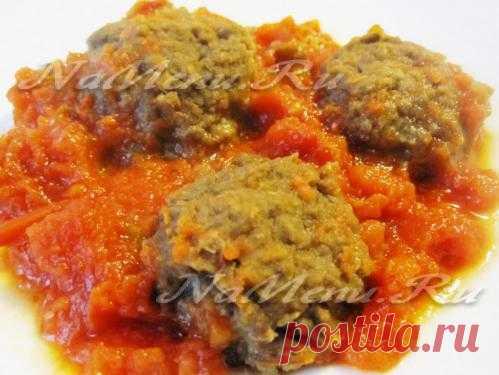 Котлеты из чечевицы в томатном соусе