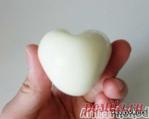 Как сделать сердечко из яйца