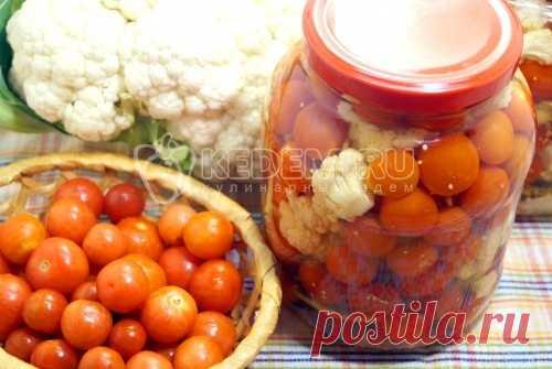 Цветная капуста с помидорами на зиму – Пошаговый рецепт с фото. Заготовки. Вкусные рецепты с фото