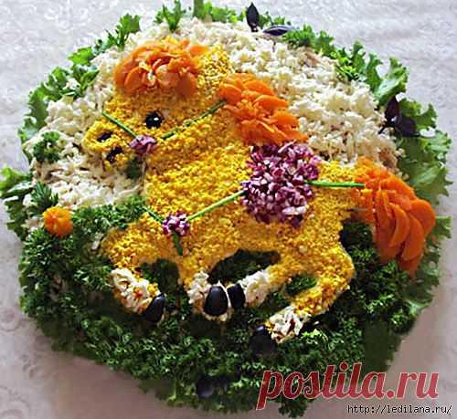 Салат «Маленький пони» к Новогоднем столу.