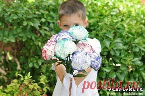Цветы из салфеток » Вышивка, бесплатные схемы вышивки крестом