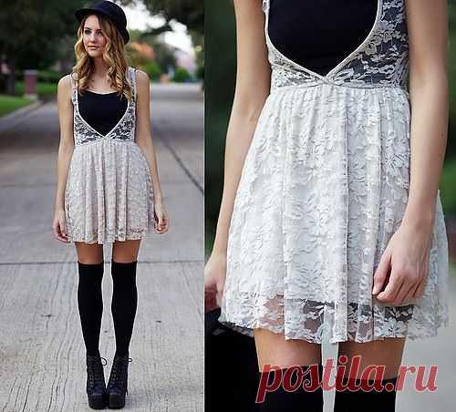 Кружевное платье / Street Style / Модный сайт о стильной переделке одежды и интерьера