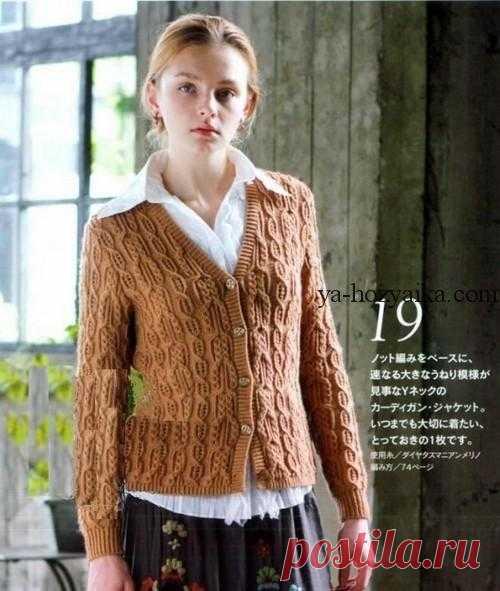 жакет спицами по японским схемам вязание из японских журналов с