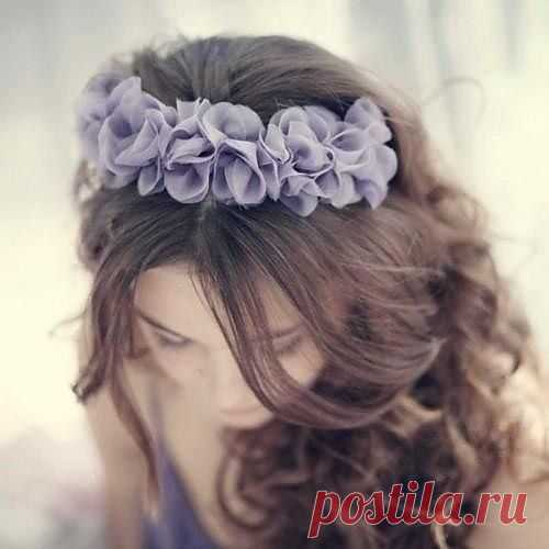 Лепестки на повязке / Украшения для волос / Модный сайт о стильной переделке одежды и интерьера