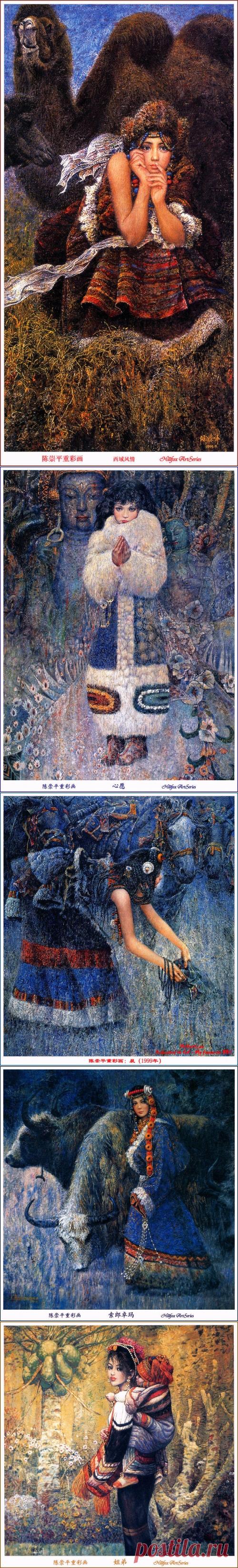 Живопись Китая. Chen Chong Ping (17 работ) » Картины, художники, фотографы на Nevsepic
