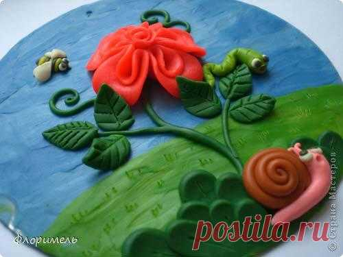 """Почти роза. Ещё одна работа с пластилином для совместного с детьми """"самоделания""""))))"""