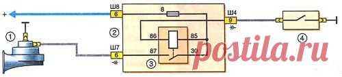 Звуковой сигнал. ИЖ 2126 (Ода)