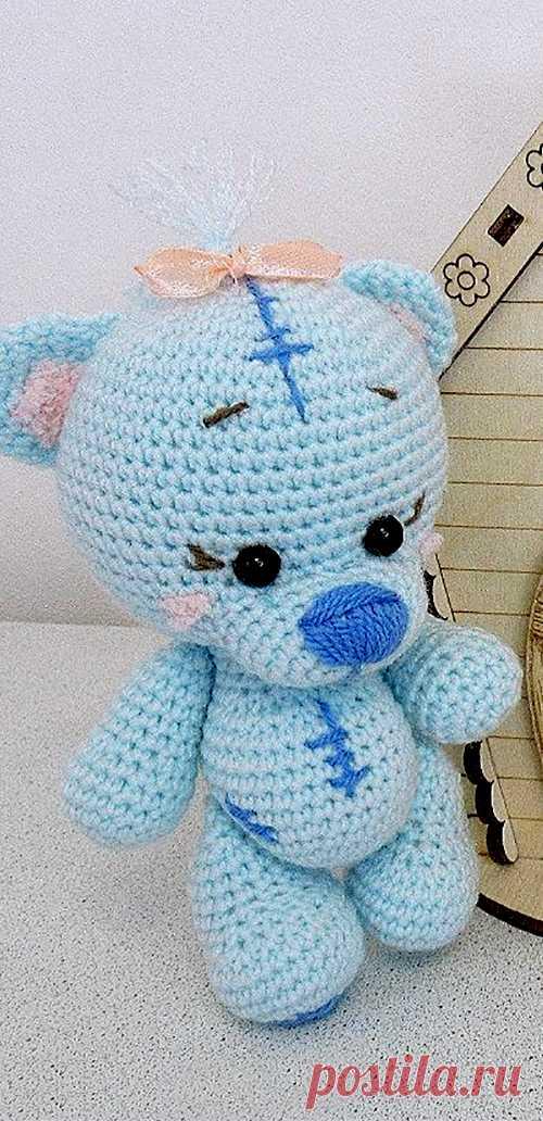 PDF Мишка Тедди крючком. FREE crochet pattern; Аmigurumi animal patterns. Амигуруми схемы и описания на русском. Вязаные игрушки и поделки своими руками #amimore - медведь, медвежонок, маленький мишка.