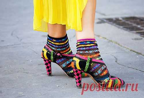 Радужные туфельки / Обувь / Модный сайт о стильной переделке одежды и интерьера