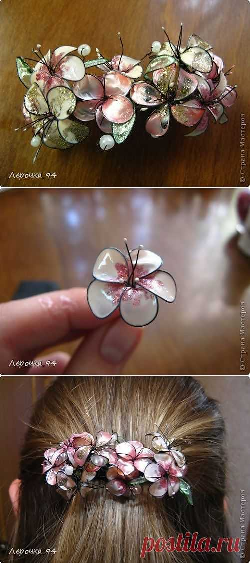 Заколка для волос из лака и проволоки (мастер-класс) / Украшения для волос / Модный сайт о стильной переделке одежды и интерьера