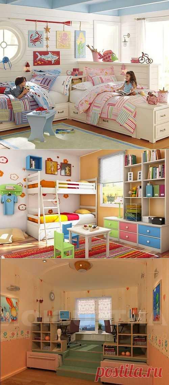 Детская комната для двоих — фото | My Milady