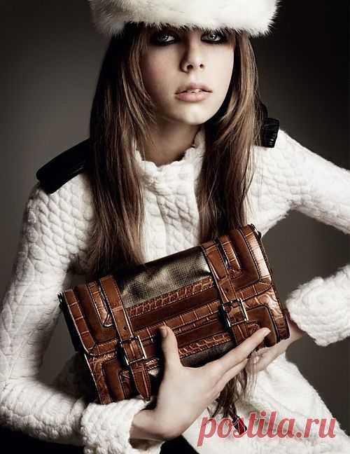 Кожаные погоны на вязаном пальто / Детали / Модный сайт о стильной переделке одежды и интерьера