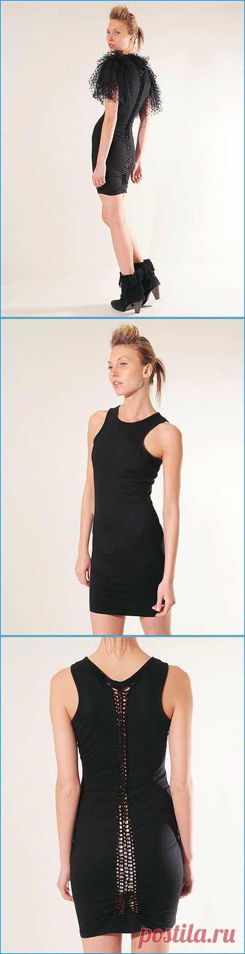 Платье-позвоночник / Декор спины / Модный сайт о стильной переделке одежды и интерьера