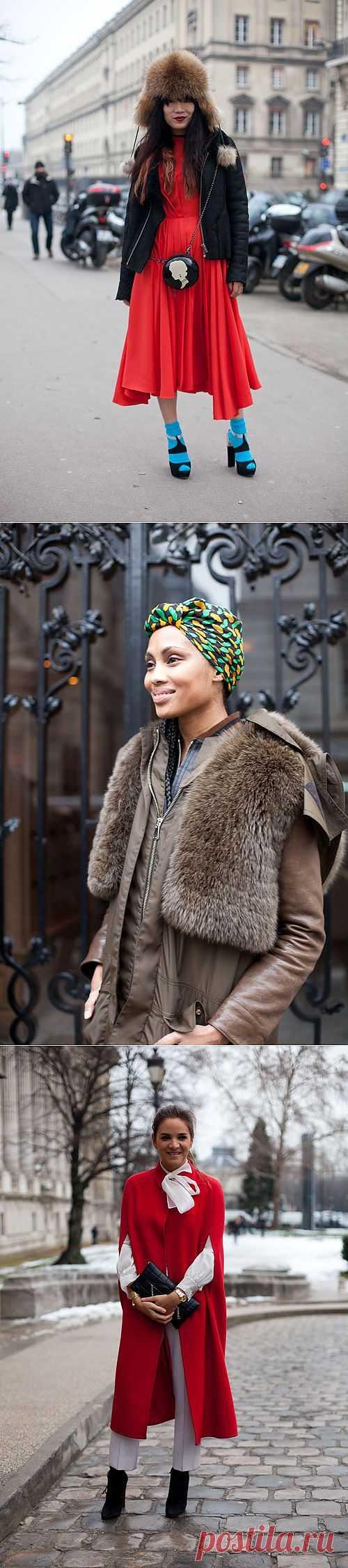 Street Style в заснеженом Париже (трафик) / Street Style / Модный сайт о стильной переделке одежды и интерьера