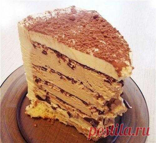 «Торт «Кофе с шоколадом» БЕЗ ДУХОВКИ»   приготовление