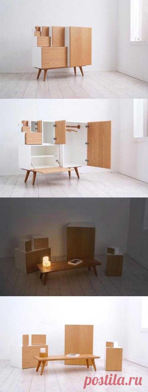 Думаете только в ИКЕЕ слышали про модульную мебель, вот и японцы не отстают. Кстати, обратите внимание владельцы малогабаритных квартир.