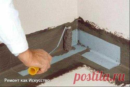 Гидроизоляция пола в ванной комнате своими руками. | Все о ремонте