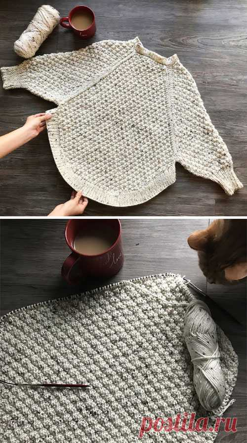 Beautiful Skills - Crochet Knitting Quilting : Great Curves Knit Poncho - Free Pattern