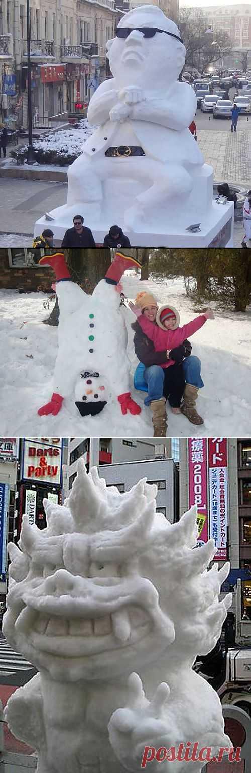 Снегомены (подборка) / Городская среда (граффити, снеговики, ets) / Модный сайт о стильной переделке одежды и интерьера