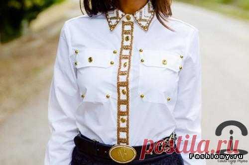 Несколько идей для декора белой блузки