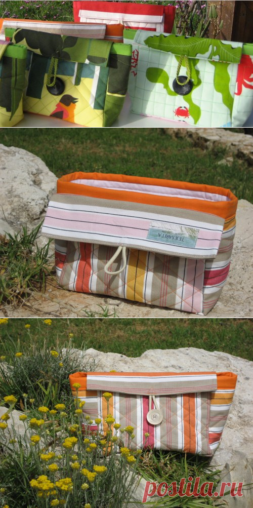 2-in-1 Cosmetic Case – Free Tutorial | PatternPile.com - sew, quilt, knit and crochet fun gifts!