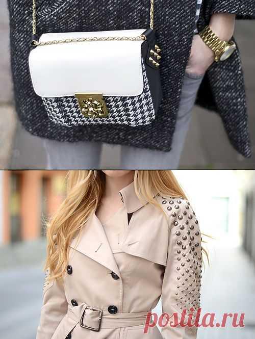 Два необычных способа расположить шипы / Аксессуары (не украшения) / Модный сайт о стильной переделке одежды и интерьера