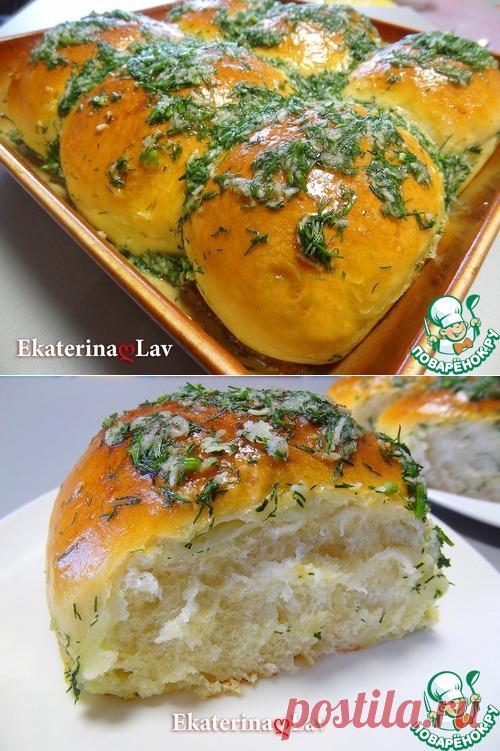 Пампушки с чесноком на кефире – кулинарный рецепт
