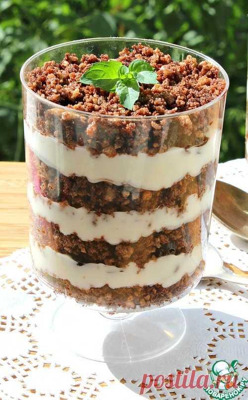 Порционный медовик без выпечки – кулинарный рецепт