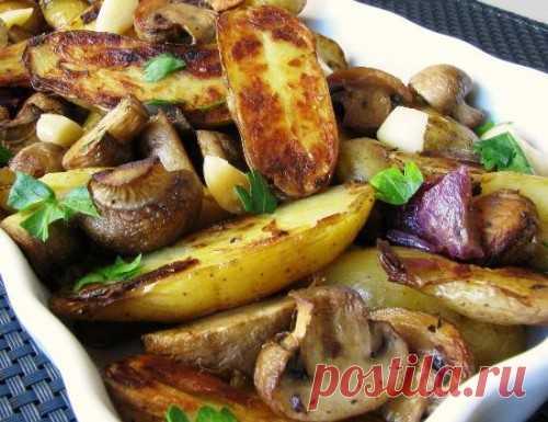 Картошка с грибами - Рецепт картошки с грибами с фото / Простые рецепты