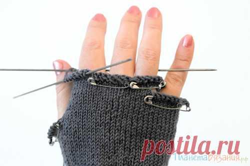 Планета Вязания   Вязание перчаток спицами - пособие для начинающих