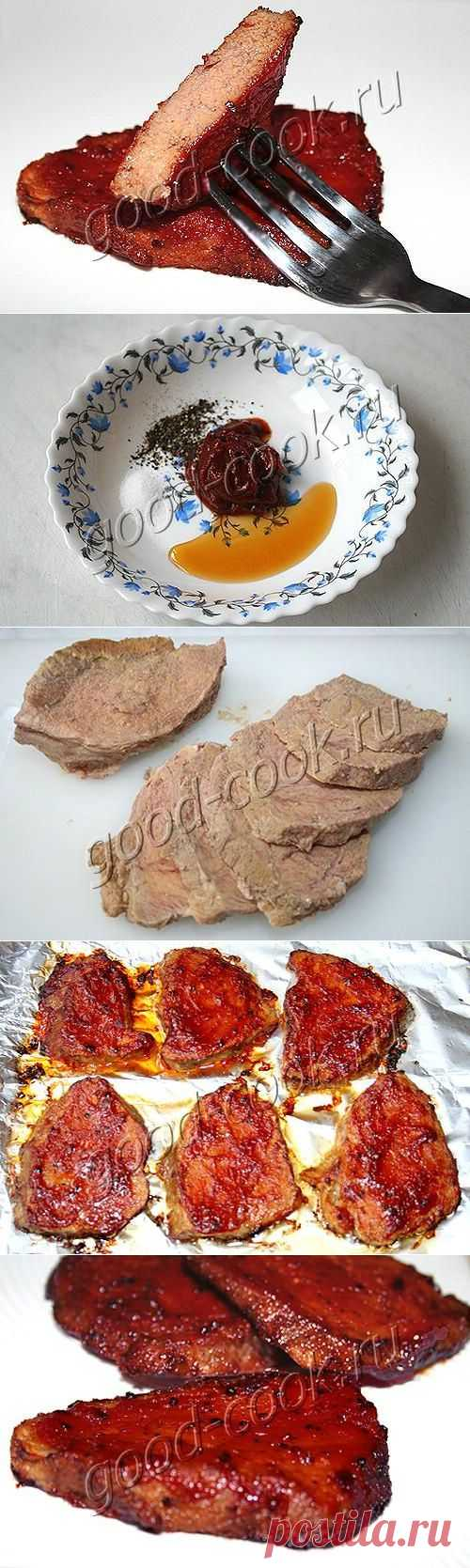 Хорошая кухня - вымя в пикантной глазури. Кулинарная книга рецептов. Салаты, выпечка.
