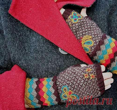 Цветные холода / Перчатки и варежки / Модный сайт о стильной переделке одежды и интерьера