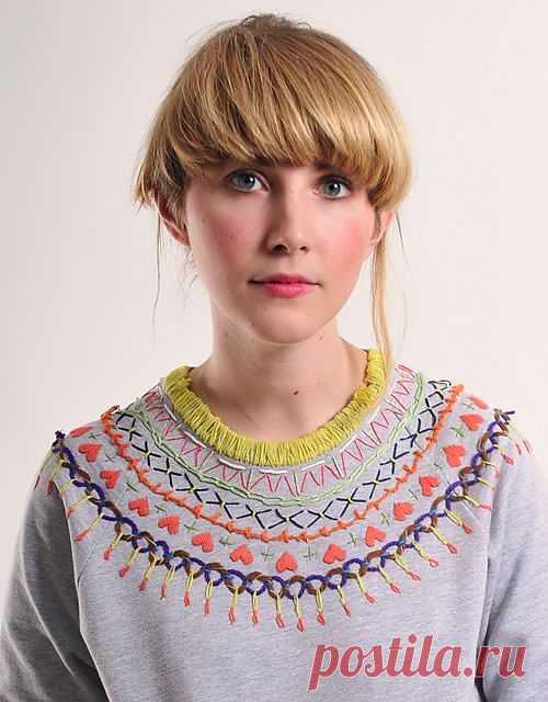 Незамысловатая вышивка / Худи / Модный сайт о стильной переделке одежды и интерьера
