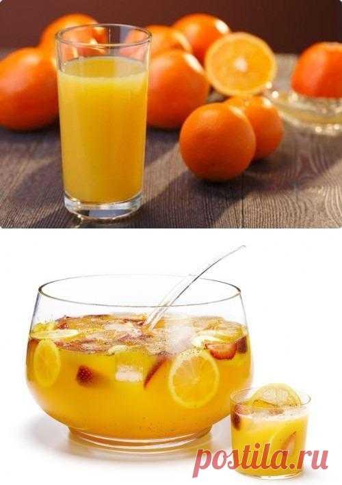 Весенние фруктовые соки и напитки