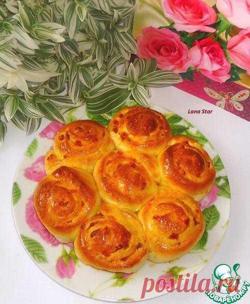 """Пирог с курагой и апельсиновым ароматом """"Букет роз"""""""