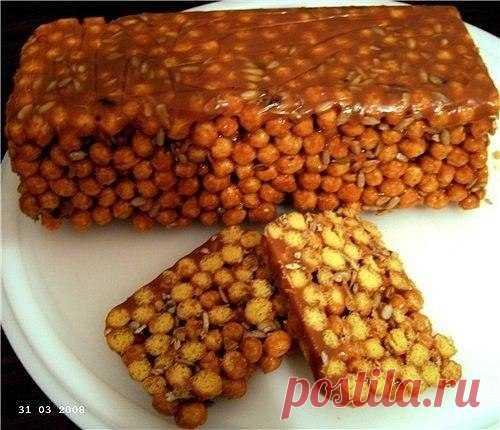 Как приготовить десерт из кукурузных палочек. - рецепт, ингредиенты и фотографии