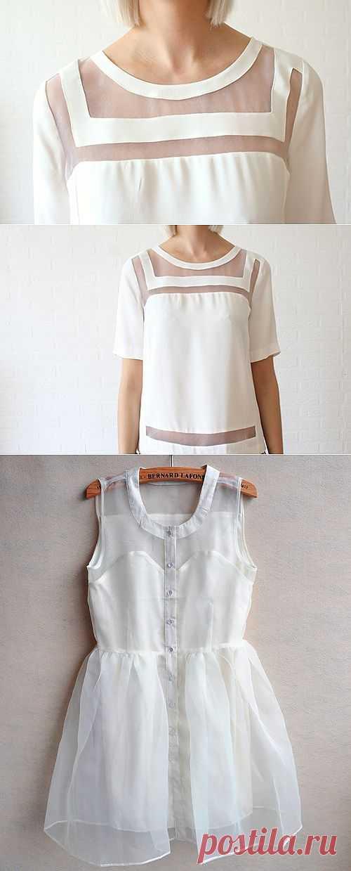Прозрачные вставки +1 / Блузки / Модный сайт о стильной переделке одежды и интерьера