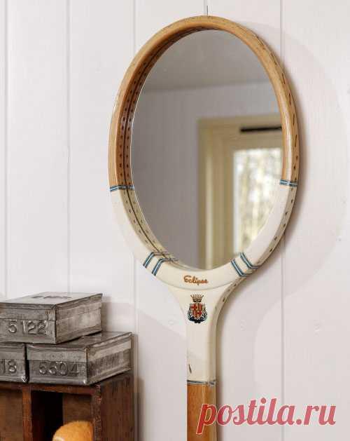 зеркало из теннисной ракетки