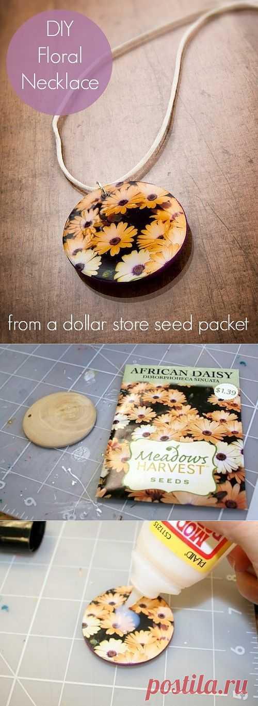 Цветочный кулон из пакетика от семян (Diy) / Украшения и бижутерия / Модный сайт о стильной переделке одежды и интерьера