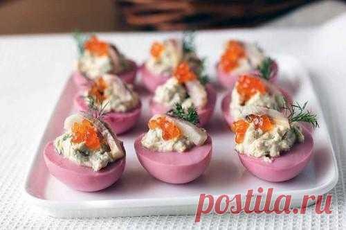 Оригинальная закуска — необычные фаршированные яйца | My Milady