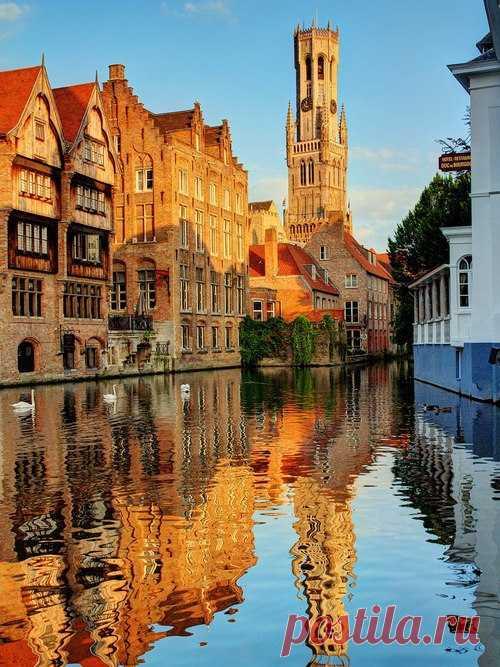 Неизвестная Бельгия. Канал Рефлекшн, Брюгге, Бельгия