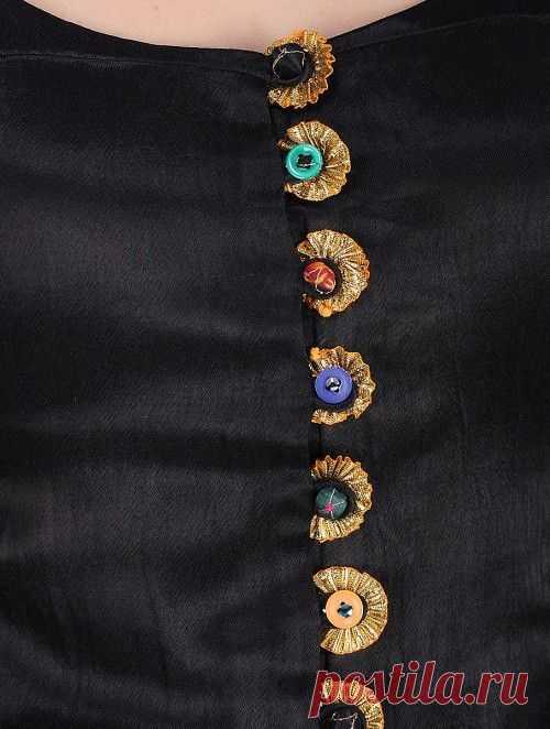 Black Mashru Top | tailor | Blouse designs, Black and Kurti