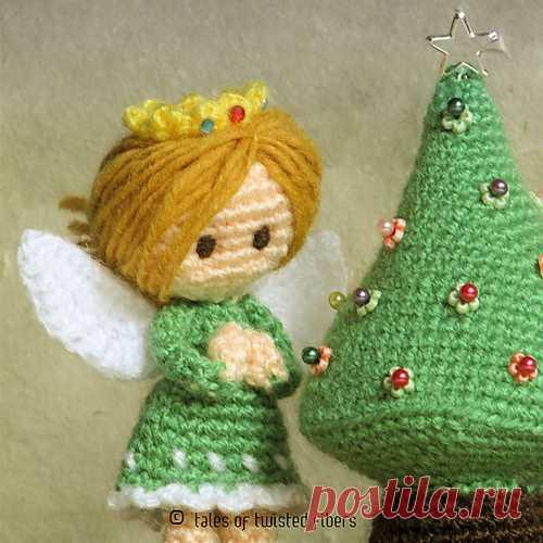 Новогодние ангелы и елочка амигуруми. Схема вязания. | Амигуруми — схемы, амигуруми крючком, вязание и игрушки амигуруми. Амигуруми всех стран!